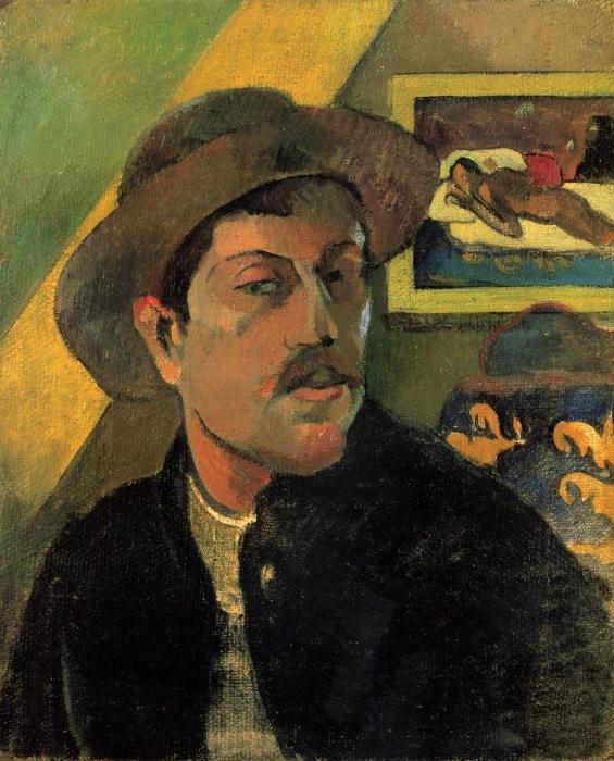 Naklejka Pixerstick Paul Gauguin - Portret artysty - Reprodukcje
