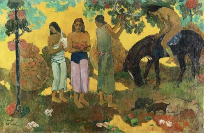 Pixerstick Aufkleber Paul Gauguin - Rupe Rupe (Obsternte) - Reproduktion