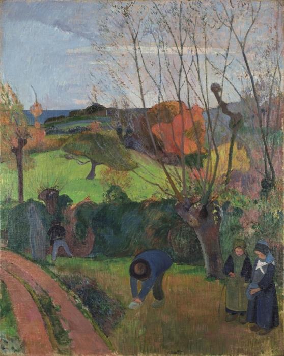 Papier peint vinyle Paul Gauguin - Les Saules - Reproductions