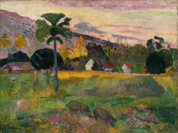 Papier peint vinyle Paul Gauguin - Haere mai (Viens ici) - Reproductions