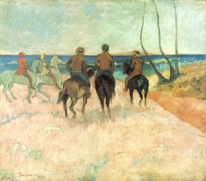 Paul Gauguin - Riders on the Beach Vinyl Wall Mural - Reproductions