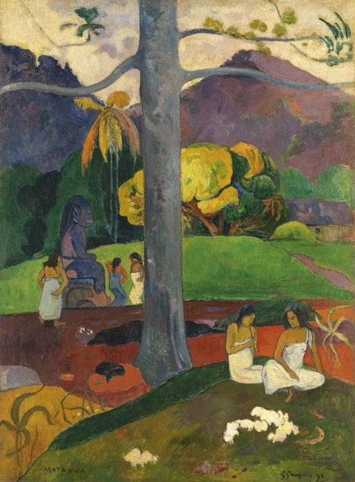 Pixerstick Aufkleber Paul Gauguin - Mata mua (in alten Zeiten) - Reproduktion