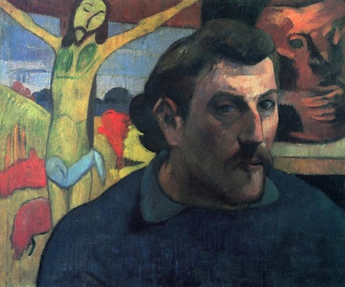 Paul Gauguin - The Yellow Christ Pixerstick Sticker - Reproductions