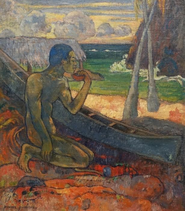 Naklejka Pixerstick Paul Gauguin - Ubogi rybak - Reprodukcje