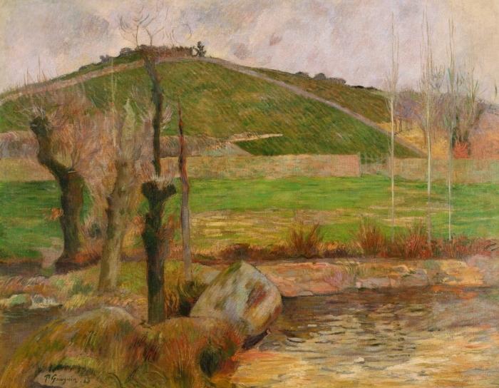 Papier peint vinyle Paul Gauguin - Paysage près de Pont-Aven - Reproductions