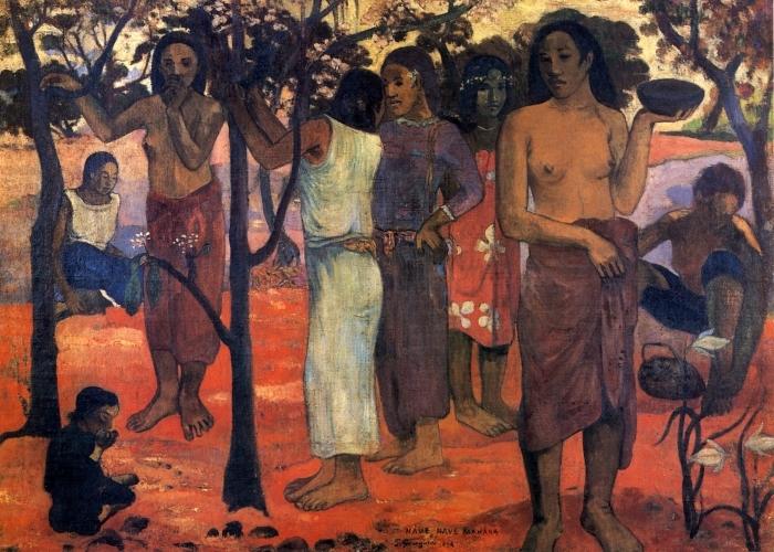 Naklejka Pixerstick Paul Gauguin - Nave Nave Mahana (Cudowny dzień) - Reprodukcje