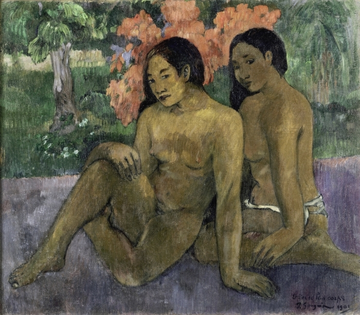 Naklejka Pixerstick Paul Gauguin - Złoto ich ciał - Reprodukcje