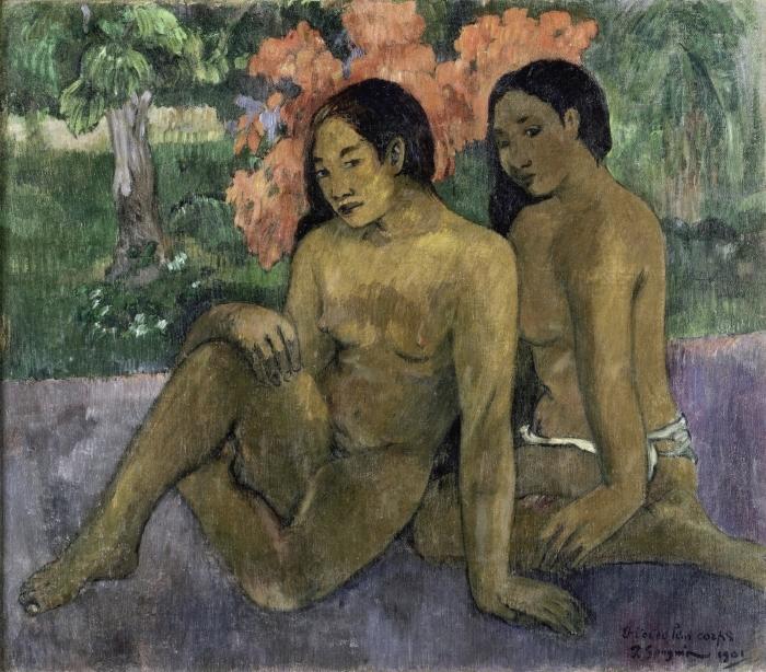 Papier peint vinyle Paul Gauguin - Et l'or de leur corps - Reproductions