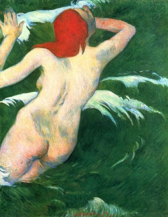 Naklejka Pixerstick Paul Gauguin - Ondine - Reprodukcje