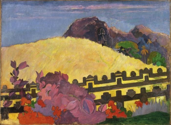 Sticker Pixerstick Paul Gauguin - Parahi Te Marae (La Montagne Sacrée) - Reproductions
