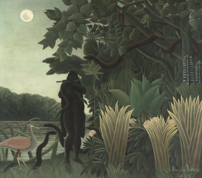 Naklejka Pixerstick Henri Rousseau - Zaklinaczka węży - Reprodukcje