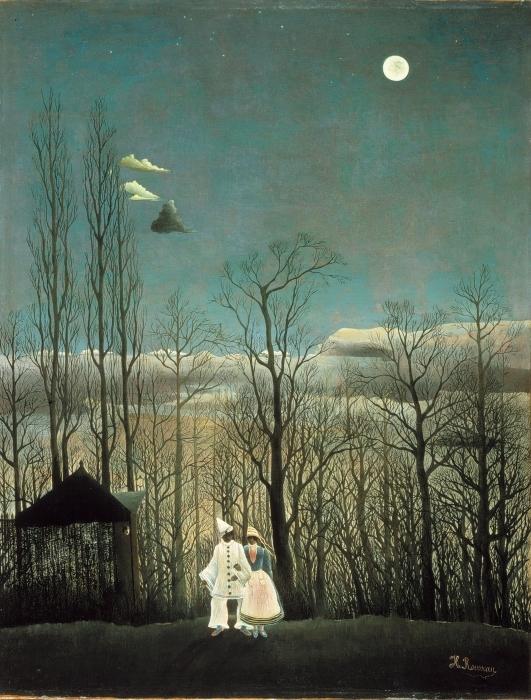 Papier peint vinyle Henri Rousseau - Une soirée au carnaval - Reproductions