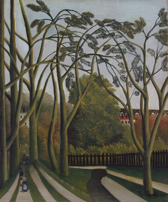 Henri Rousseau - The Banks of the Bièvre near Bicêtre Vinyl Wall Mural - Reproductions
