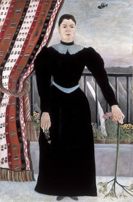 Vinilo Pixerstick Henri Rousseau - Retrato de una mujer - Reproducciones