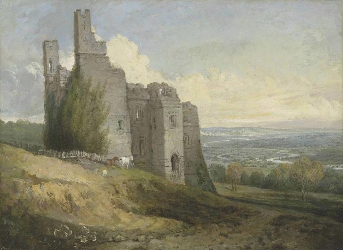 Adesivo Pixerstick William Turner - Conway Castle - Riproduzioni