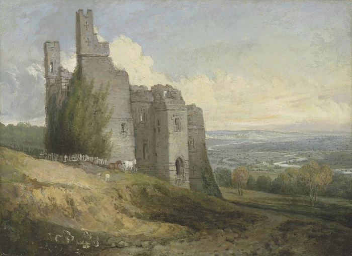 Pixerstick Aufkleber William Turner - Conwy Castle - Reproduktion