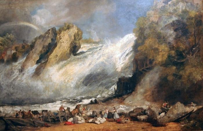 Papier peint vinyle William Turner - Chutes du Rhin à Schaffhouse - Reproductions