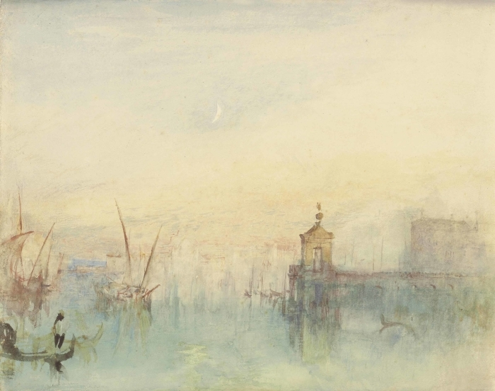 Naklejka Pixerstick William Turner - San Giorgio Maggiore o zachodzie słońca, widziane z Hotelu Europa - Reprodukcje