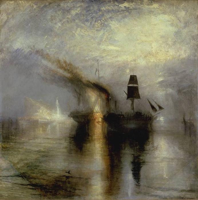 Naklejka Pixerstick William Turner - Morski pogrzeb - Reprodukcje