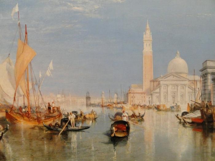 Pixerstick Aufkleber William Turner - Venedig - Dogana und San Giorgio Maggiore - Reproduktion