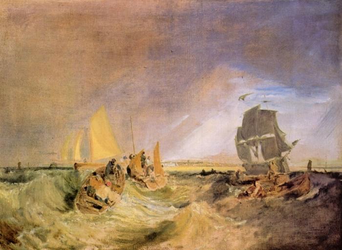 Pixerstick Aufkleber William Turner - Flotte an der Mündung der Themse - Reproduktion