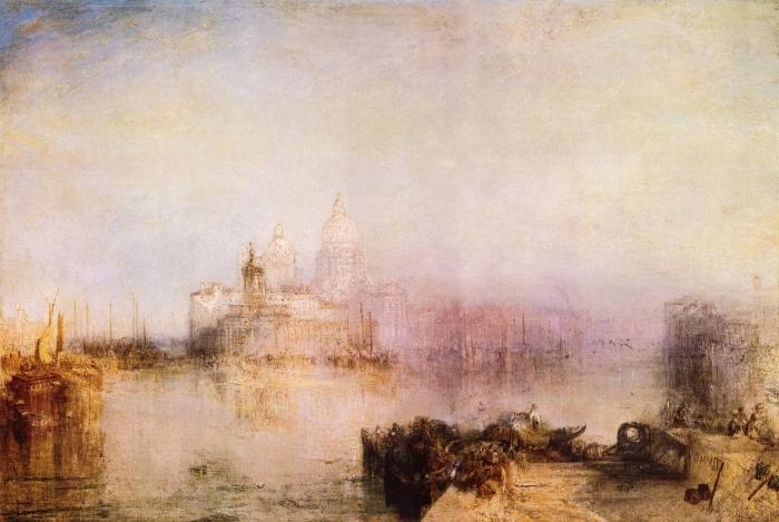 Naklejka Pixerstick William Turner - Dogana i Madonna della Salute - Reprodukcje