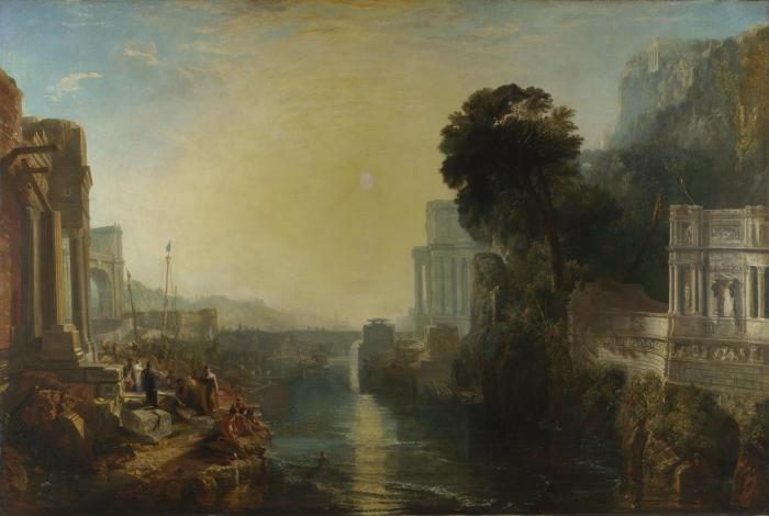 Vinilo Pixerstick William Turner - La decadencia del Imperio Cartaginés - Reproducciones