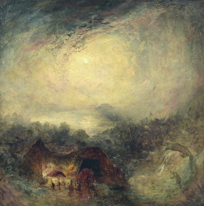 Naklejka Pixerstick William Turner - Wieczorna powódź - Reprodukcje