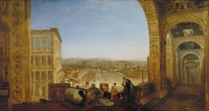 Naklejka Pixerstick William Turner - Rzym widziany od strony Watykanu - Reprodukcje