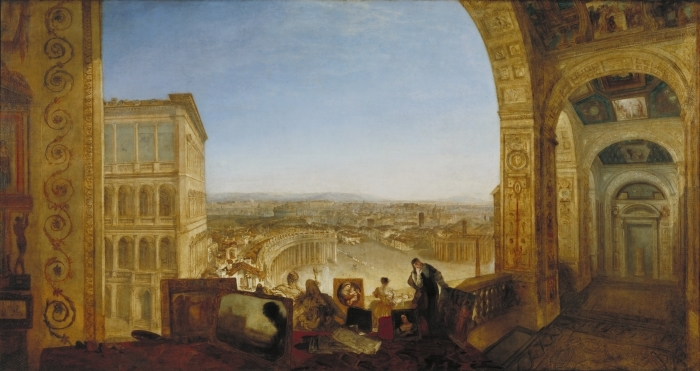 Papier peint vinyle William Turner - Rome vue du Vatican - Reproductions