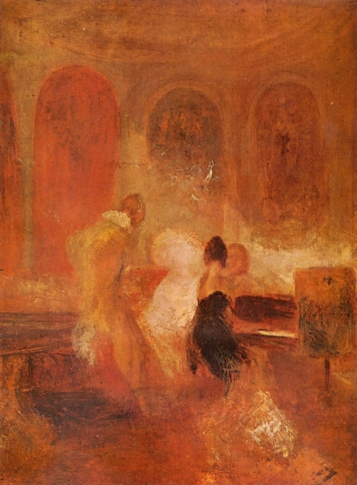 William Turner - A Music Party, East Cowes Castle Vinyl Wall Mural - Reproductions