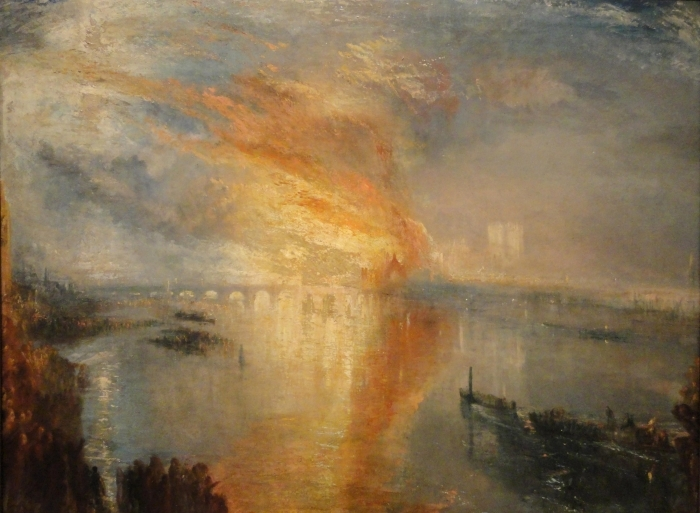 William Turner - The Burning of the Houses of Lords and Commons Vinyl Wall Mural - Reproductions