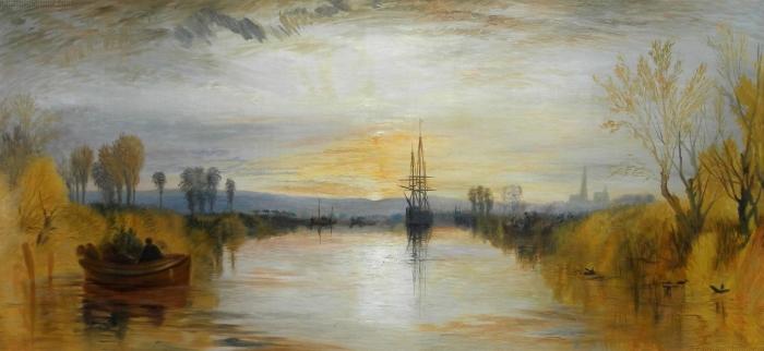 Papier peint vinyle William Turner - Canal de Chichester - Reproductions