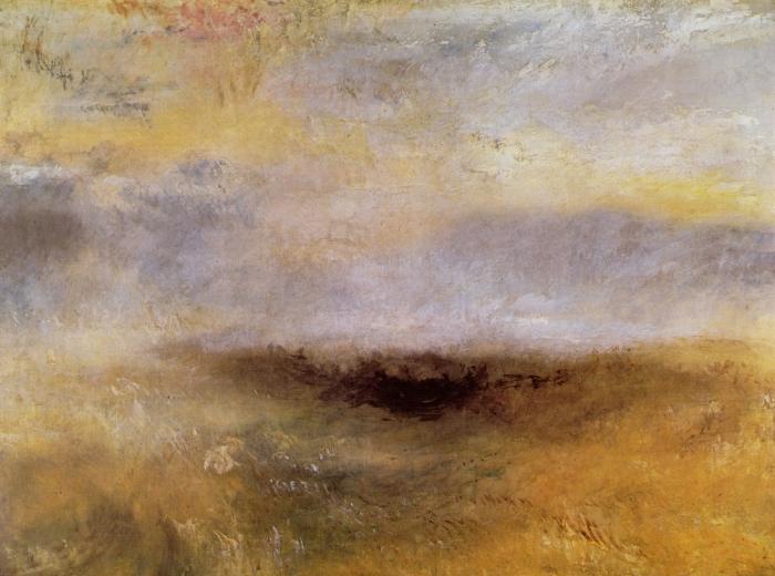 Papier peint vinyle William Turner - Morceau de mer avec un orage surgissant - Reproductions