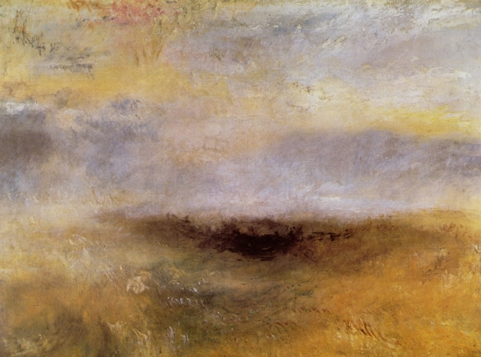 Sticker Pixerstick William Turner - Morceau de mer avec un orage surgissant - Reproductions