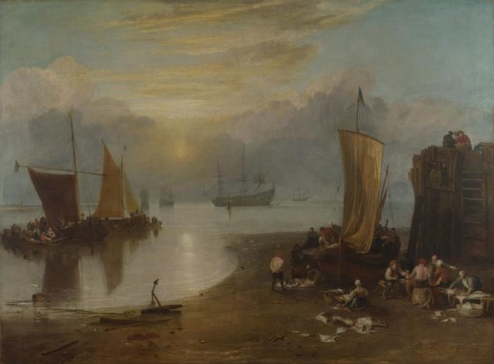 Naklejka Pixerstick William Turner - Wschód słońca we mgle - Reprodukcje