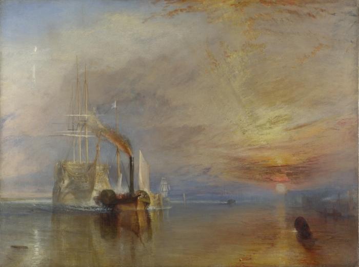 Carta da Parati in Vinile William Turner - La valorosa Temeraire tirò al suo ultimo ancoraggio per essere spezzata - Riproduzioni