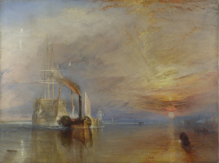 William Turner - The Fighting Temeraire Tugged to her Last Berth to be Broken Up Vinyl Wall Mural - Reproductions
