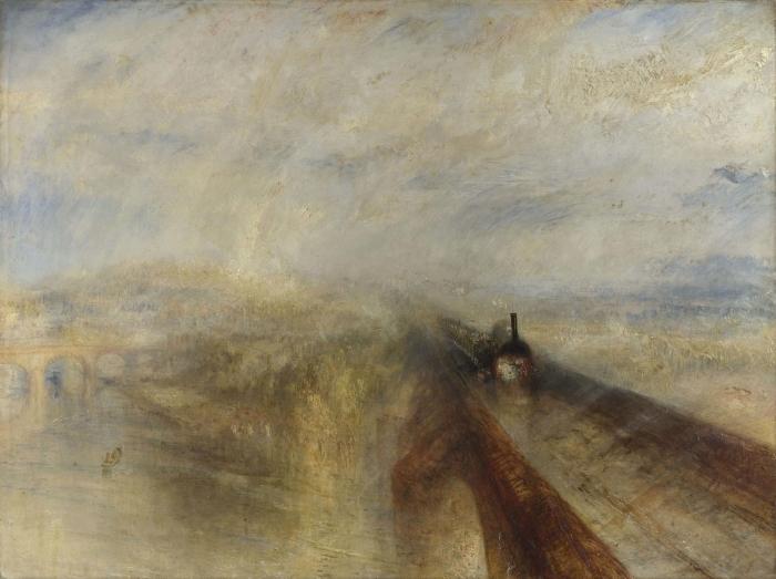 Vinyl-Fototapete William Turner - Regen, Dampf und Geschwindigkeit – die Great Western Railway - Reproduktion