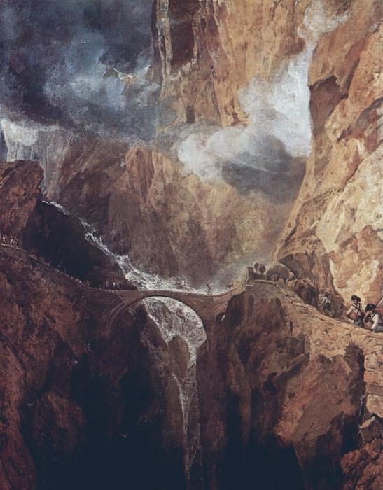 Naklejka Pixerstick William Turner - Przełęcz św. Gottharda - Reprodukcje