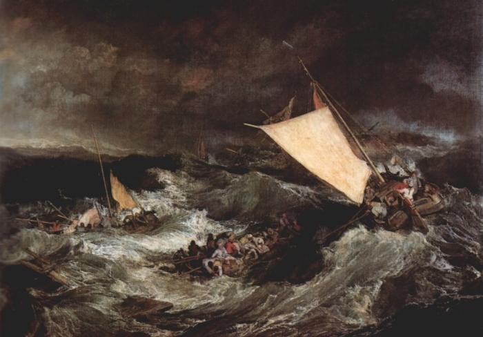 William Turner - Shipwreck Vinyl Wall Mural - Reproductions