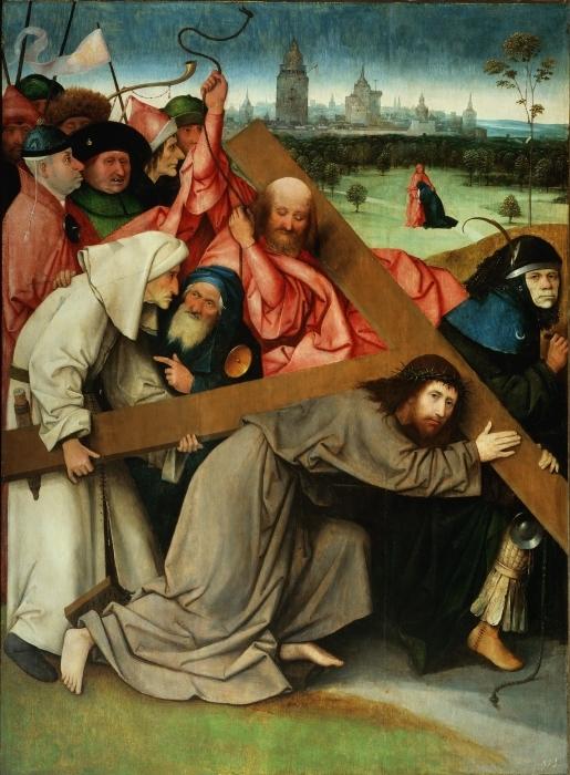 Pixerstick Aufkleber Hieronymus Bosch - Kreuztragung Christi - Reproductions