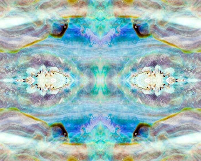 Pixerstick Aufkleber Shiny Perlmutter von Paua oder Abalone Shell Hintergrund -