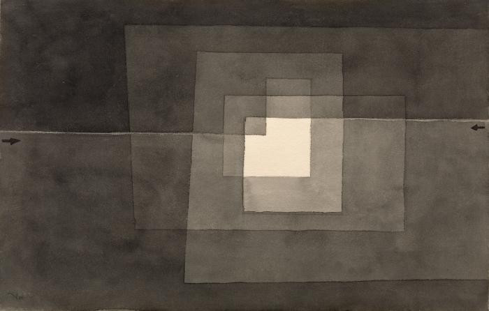 Naklejka Pixerstick Paul Klee - Dwie drogi - Reprodukcje