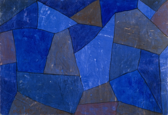 Pixerstick Aufkleber Paul Klee - Felsen in der Nacht - Reproduktion