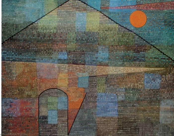 Naklejka Pixerstick Paul Klee - Ad Parnassum - Reprodukcje