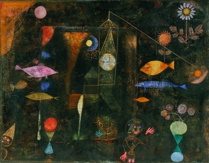 Selbstklebende Fototapete Paul Klee - Fischzauber - Reproduktion