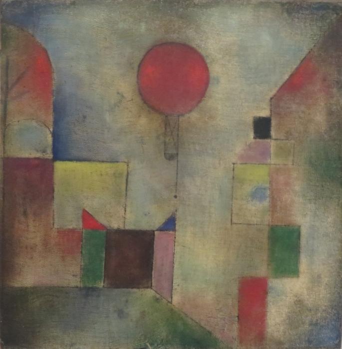 Paul Klee - Punainen Baloon Pixerstick tarra -