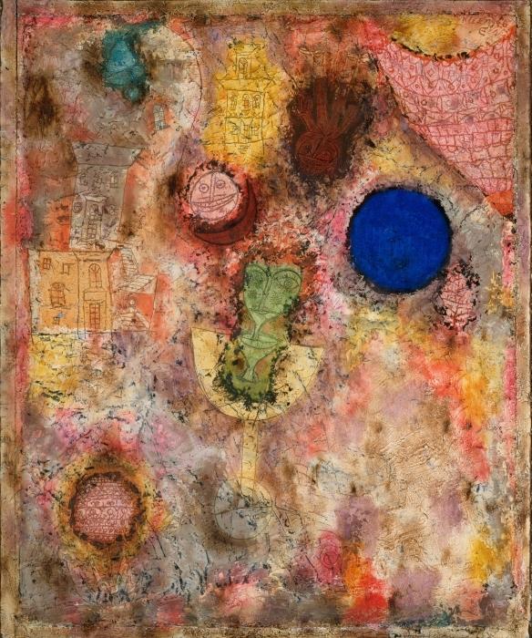 Sticker Pixerstick Paul Klee - Jardin magique - Reproductions