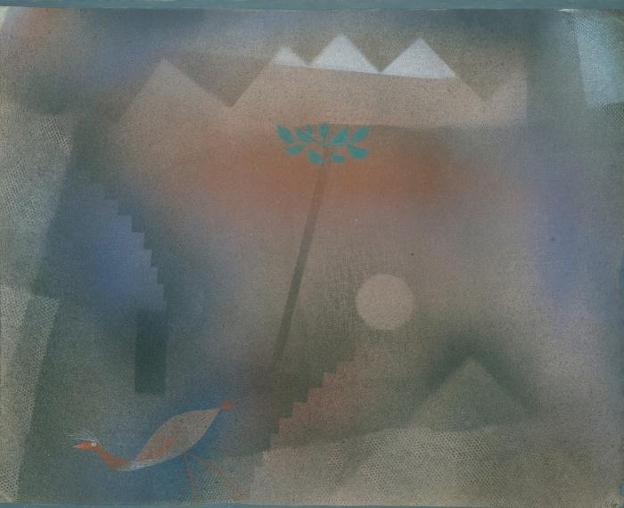 Pixerstick Aufkleber Paul Klee - Abwandernder Vogel - Reproduktion